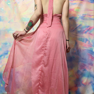 1990s KIKI USA hot pink prom dress