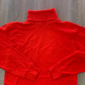 vtg fiery orange turtleneck sweater (unisex)