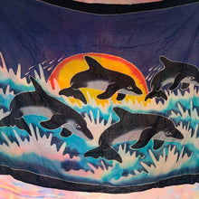 Load image into Gallery viewer, vtg WIJANA dolphin sarong / tapestry