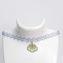 Load image into Gallery viewer, pale PLUM BLOSSOM tattoo choker