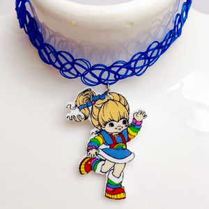 RAINBOW BRITE tattoo choker
