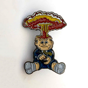 ADAM BOMB retro garbage pail kids enamel pin