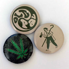 Load image into Gallery viewer, OLD PAL marijuana button pin set