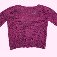 Load image into Gallery viewer, vtg magenta AXIOM petite knit cardigan