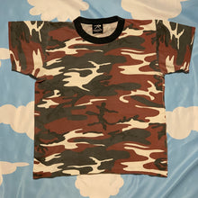 Load image into Gallery viewer, 1990s rothco camo military t shirt