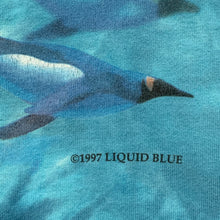 Load image into Gallery viewer, 1997 LIQUID BLUE penguins tie dye t shirt
