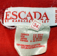Load image into Gallery viewer, rare vintage ESCADA by MARGARETHA LEY red embroidered shirt