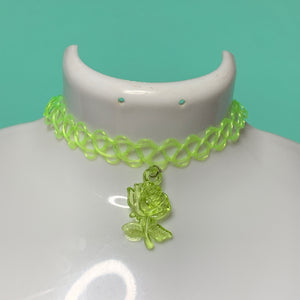 SLIME ROSE tattoo choker