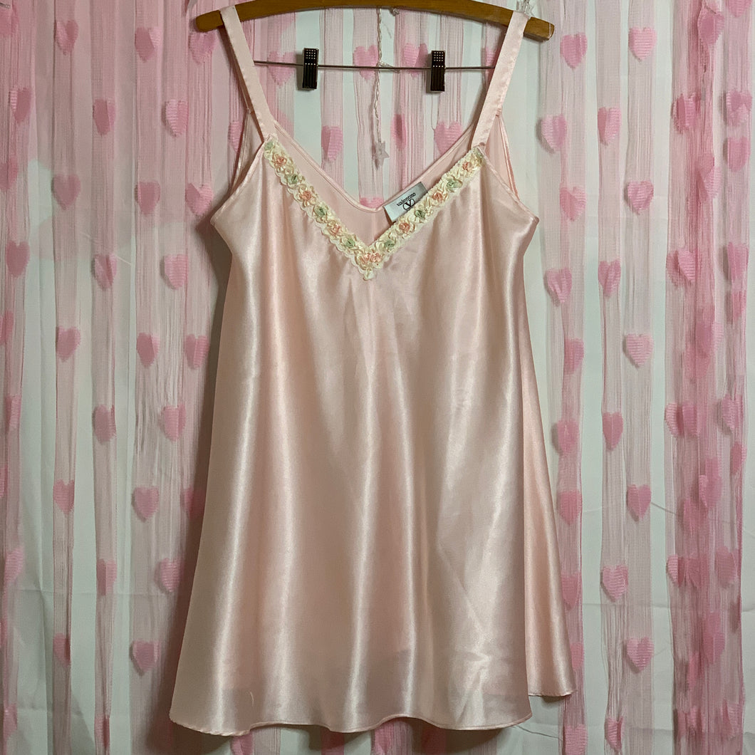 1960s ILGWU VALENTINO blush pink chemise gown