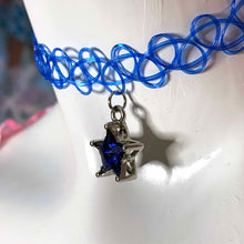 Load image into Gallery viewer, sapphire star choker necklace