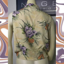 Load image into Gallery viewer, silk TOMMY BAHAMA floral hawaiian blouse