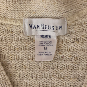 women's VAN HEUSEN beige knit sleeveless cardigan