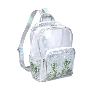 holo alien pvc backpack