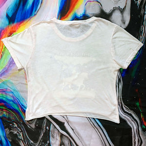 pale pink atmosphere unicorn concert tee