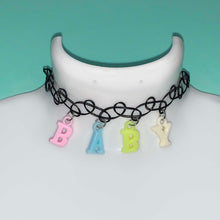 Load image into Gallery viewer, pastel BABY tattoo choker