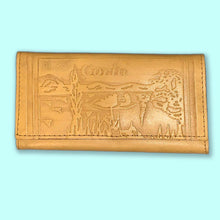 Load image into Gallery viewer, vintage greecian embossed leather wallet