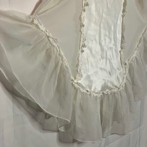 1970s DENTELLE satin & lace boudoir dress