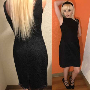 vintage 1980s black CASSIDY cocktail dress