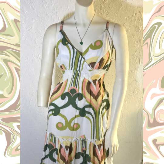 Vintage SPEED CONTROL New York Floral Maxi Dress