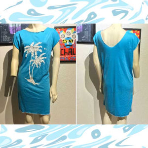 Vtg 1970s HAWAIIAN FLAVOR Casual Beach Dress