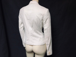 ladies CALVIN KLEIN white slim fit blazer jacket
