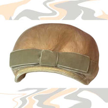Load image into Gallery viewer, antique beige feather casque hat