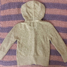 Load image into Gallery viewer, FOSSIL beige knit cardigan with hood