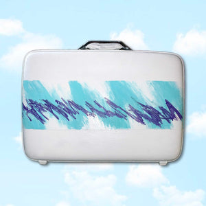 JAZZ CUP hand painted vintage suitcase