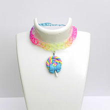 Load image into Gallery viewer, pastel LOLLIPOP GUILD swirled candy choker