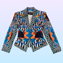 Load image into Gallery viewer, psychedellic mackenzie mode op art blazer