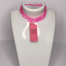 Load image into Gallery viewer, pink NEON NOKIA tattoo choker necklace