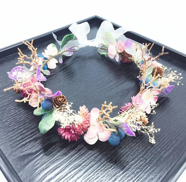 floral nymph crown
