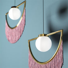 Load image into Gallery viewer, art deco fringe pendant light