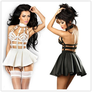 body cage bustier harness dress