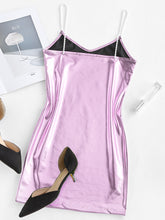 Load image into Gallery viewer, metallic pearl mini slip dress