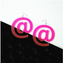 Load image into Gallery viewer, oversized neon statement earrings