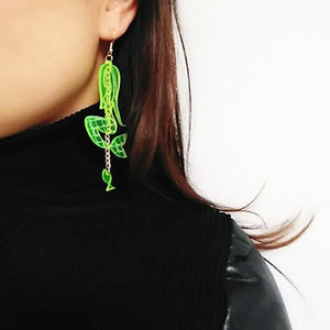 oversized neon statement earrings