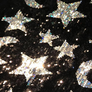 silver starlight glitter sequin bells