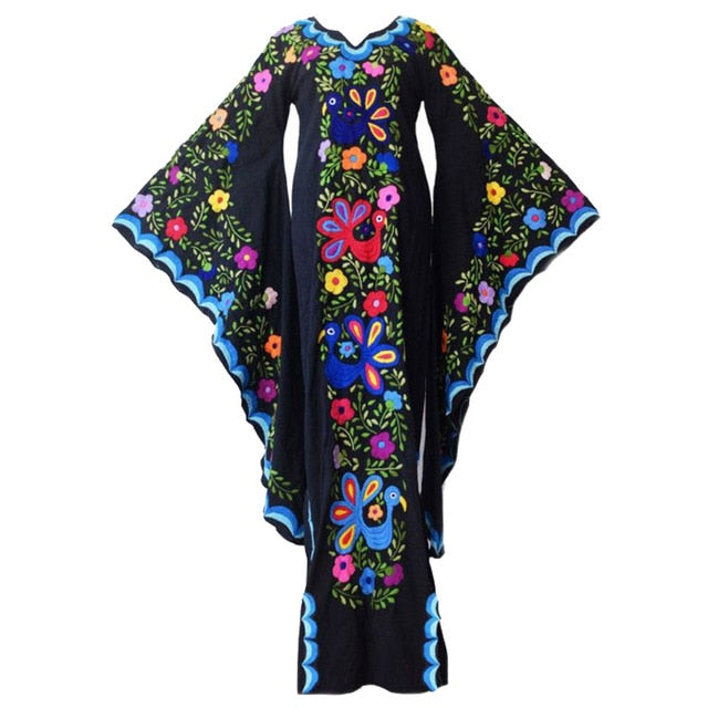dark bell flower goddess dress