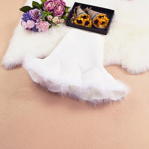 sugar princess marabou mini skirt