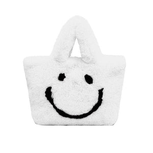 ultra plush smiley tote