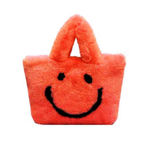 Load image into Gallery viewer, ultra plush smiley tote