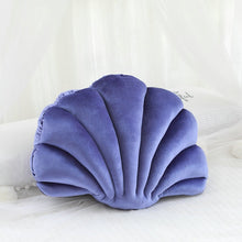 Load image into Gallery viewer, velvet sea shell luxury throw pillow
