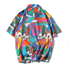 Load image into Gallery viewer, DARK SUMMER harajuku hawaiian oxford shirt