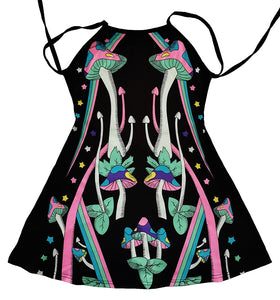 strange magic uv party mini dress