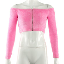 Load image into Gallery viewer, pink fuzzy crop jacket
