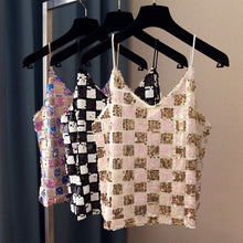 Load image into Gallery viewer, sequin check camisole