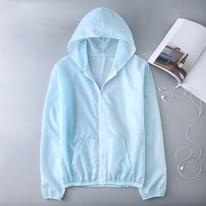 ultra thin hooded windbreaker