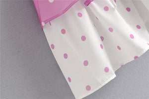 polka dot praline dress