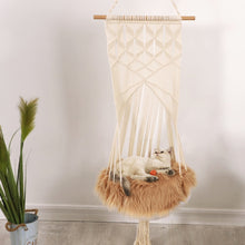 Load image into Gallery viewer, macrame cat hammock